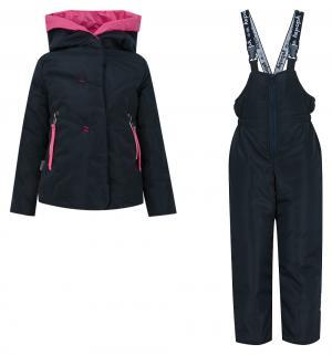 Комплект куртка/брюки  Соня, цвет: синий/фуксия Аврора
