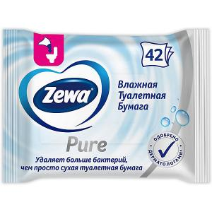Туалетная бумага  влажная, 42 шт Zewa