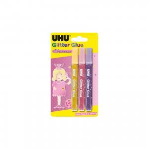 Клеящие блестки 3*10мл для декора UHU