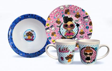 ND Play Набор посуды из фарфора L.O.L. Glam (3 предмета) Наборпосуды фарфораL.O.L.Glam(3предмета)