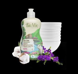 Средство для мытья посуды BioMio с эфирным маслом вербены Bio-care, 450 мл