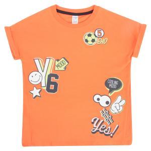 Футболка  Каникулы, цвет: оранжевый Crockid