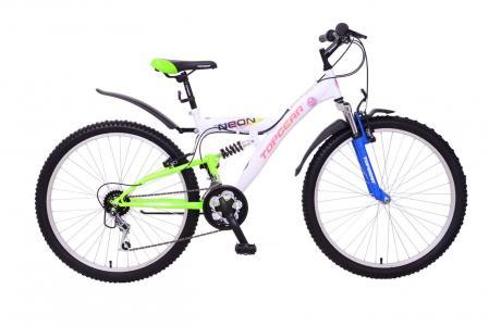 Велосипед  Neon 120, цвет: белый/синий/зеленый Top Gear
