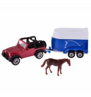 Масштабная модель  с прицепом для перевозки лошадей 7.5 см Siku