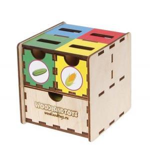 Развивающая игрушка  Комодик-куб Овощи, 10 х см Woodland