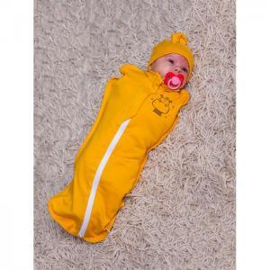 Пеленка  Кокон с шапочкой Newborn Бегемот Rant