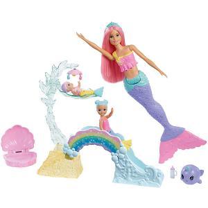 Игровой набор Barbie Dreamtopia Кукла с маленькими русалочками Mattel