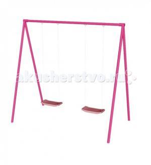 Качели  двухместные розовые СпортОкей