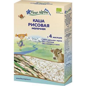 Каша  молочная рисовая, с 4 мес Fleur Alpine