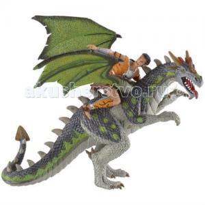 Фигурка Дракон и воин 18 см Bullyland