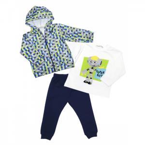 Комплект для мальчика жакет, лонгслив, брюки 6404 Baby Rose