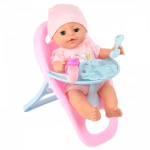 Кукла-Пупсик с комплектом одежды и стульчиком для кормления 35 см Lisa Jane