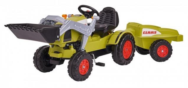 Педальный трактор погрузчик с прицепом Claas BIG