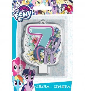Свеча-цифра  №7 8 см My Little Pony