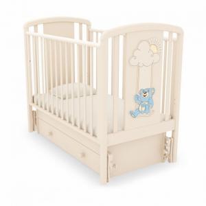 Кровать  Жаклин Мишка на качелях, цвет: слоновая кость Angela Bella