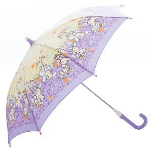 Зонт-трость  Зайчики со светодиодами, фиолетовый Zest. Цвет: синий