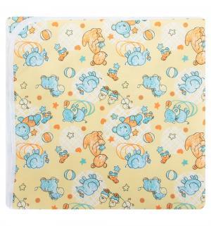 Наматрасник  непромокаемый с рисунком 60х120 см, 1 шт, цвет: желтый Multi-Diapers