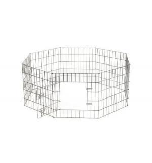 Клетка  для щенков 8-ми угольная стальная, цвет: серебристый, 60*91см Beeztees