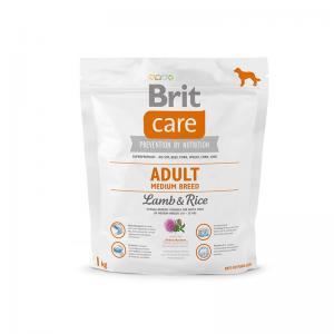 Сухой корм  Care для взрослых собак средних пород, ягненок/рис, 3кг Brit