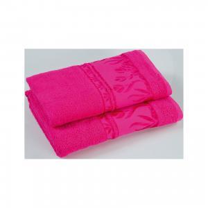 Полотенце махровое Tulips 70*140, , ярко-розовый Португалия