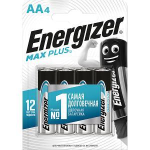Батарейки алкалиновые  Max Plus, тип АА/LR6, 1,5 V, 4 шт Energizer