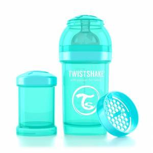 Бутылочка для кормления  антиколиковая полипропилен с рождения, 180 мл, цвет: бирюзовый Twistshake