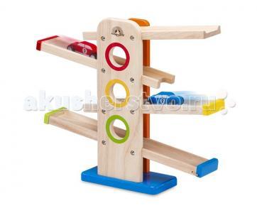 Деревянная игрушка  со съезжающими машинками Wonderworld