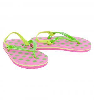 Шлепанцы , цвет: розовый/зеленый Forio