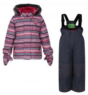 Комплект куртка/полукомбинезон , цвет: розовый Peluche&Tartine