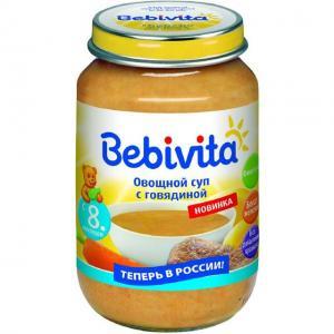 Суп  Овощной с говядиной, 190 г, 1 шт Bebivita