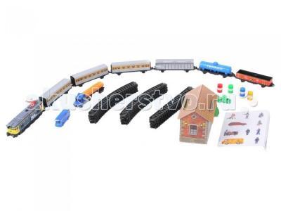 Железная дорога 4,4м эллипс 1 локомотив 3 пас.вагона грузовых вагона 900 Pequetren