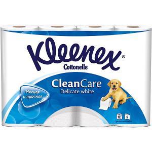 Туалетная бумага  Delicate White 2 слоя, 12 шт Kleenex. Цвет: разноцветный