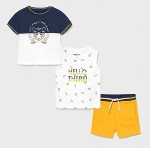 Комплект для мальчика (майка, футболка, шорты) 1668 Mayoral
