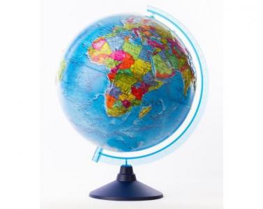 Глобус Земли политический рельефный 320 серия Евро Globen
