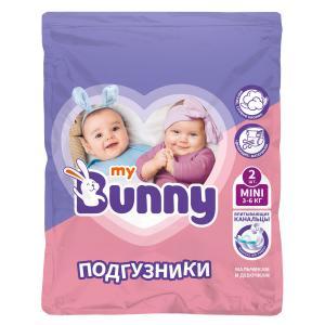 Подгузники  с канальцами Mini (3-6 кг) 2 шт. My Bunny