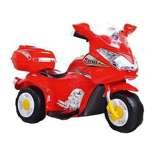 Электромотоцикл  Super, красный (свет, звук) Bugati
