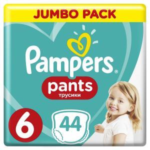Трусики-подгузники  Pants, р. 6, 15+ кг, 44 шт Pampers