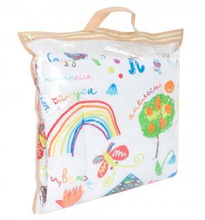 Комплект в коляску Каляки-маляки 2 предмета подушка, цвет: белый Leader Kids