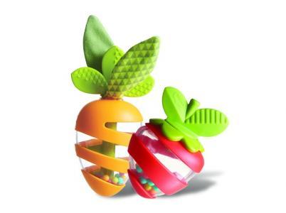 Погремушка  Развивающая игрушка Морковка и Клубничка Tiny Love
