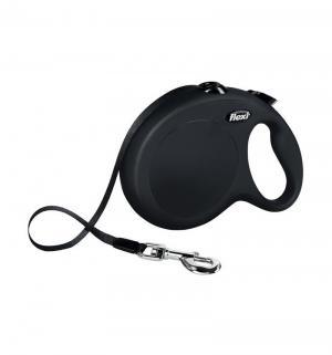 Рулетка New Classic ленточная L, 8м, до 50 кг, цвет: черный Flexi