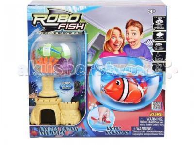 Интерактивная игрушка  РобоРыбка с 2 кораллами, замком и аквариумом Robofish