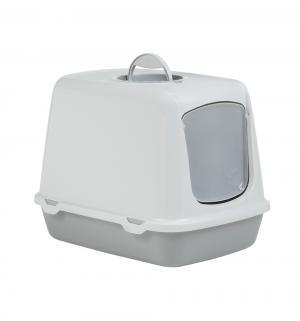 Туалет-домик для кошек  Oscar, цвет: серый, 50*37*39см Beeztees