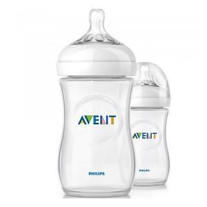 Бутылочки для кормления Natural, 260 мл, медленный поток, 2 шт., AVENT PHILIPS
