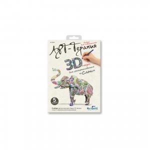 3Д пазл для раскрашивания Арттерапия «Слон». Чудо-Творчество