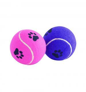 Игрушка для собак  Мячик теннисный с отпечатками лап, , 10см I.P.T.S.