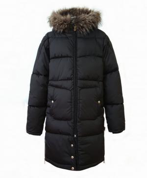 Пальто для девочек black цвет черный Dakottakids