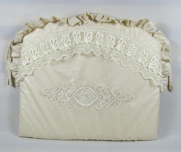 Комплект постельного белья  1801, цвет: бежевый 8 предметов бант 26 х 24 28 см Tizo