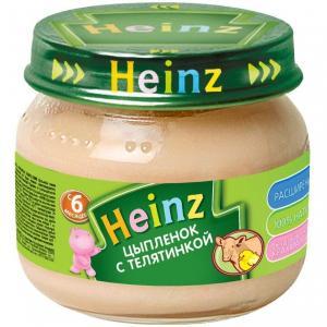 Пюре  цыпленок-телятина с 6 месяцев, 80 г Heinz