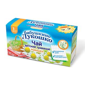 Детский пакетированный чай  травяной с ромашкой, 1 мес Бабушкино Лукошко