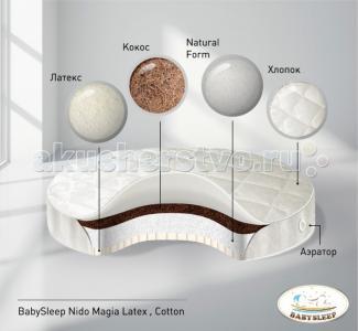 Матрас  Latex Cotton в колыбель 75x75 см Babysleep